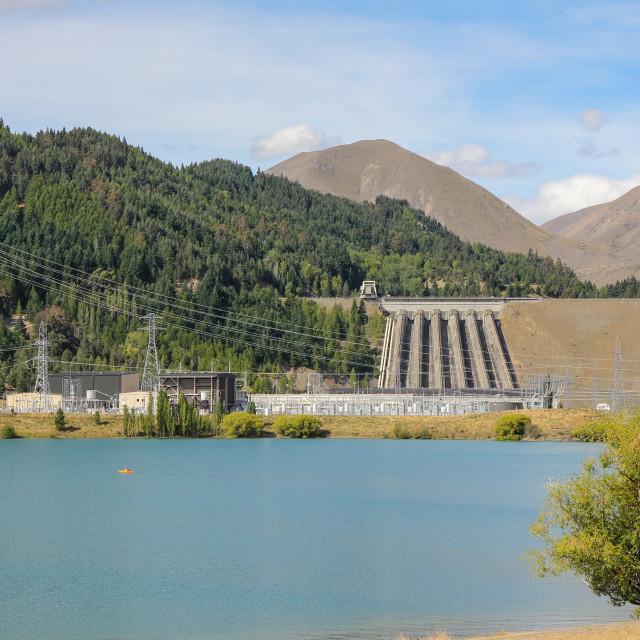 """Benmore hydro dam"" stock image"