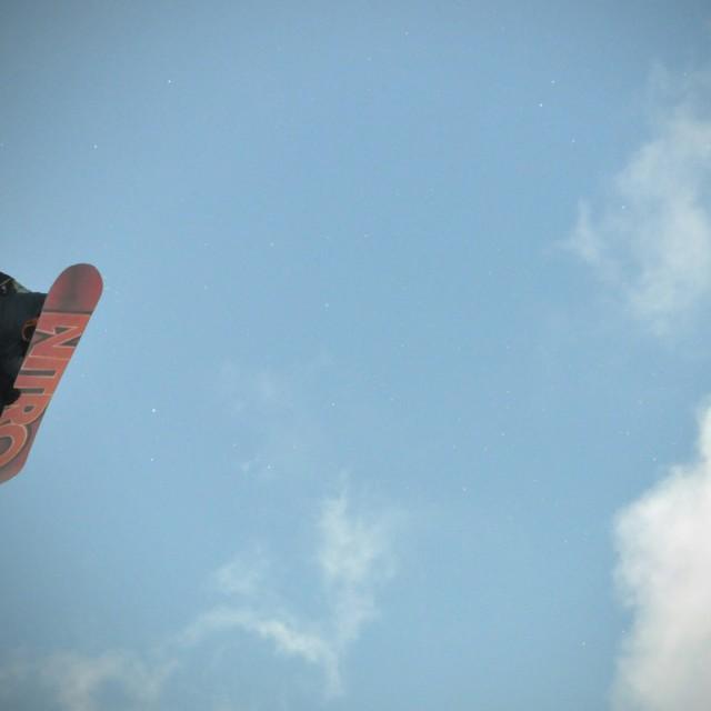 """Snowboard Flight"" stock image"