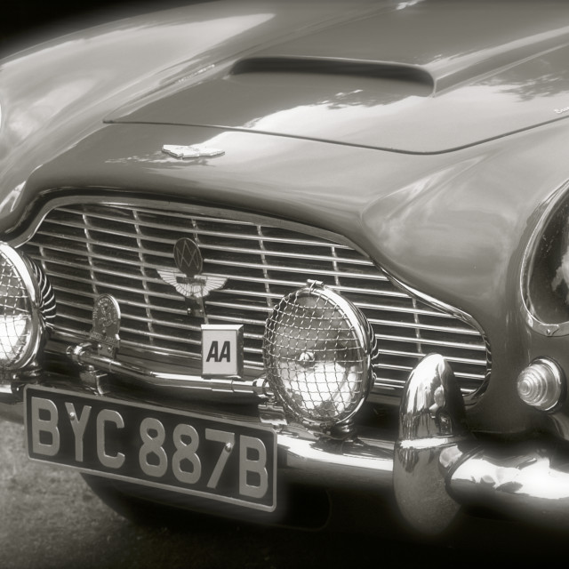 """""""Aston Martin DB5 Front Grille Detail"""" stock image"""