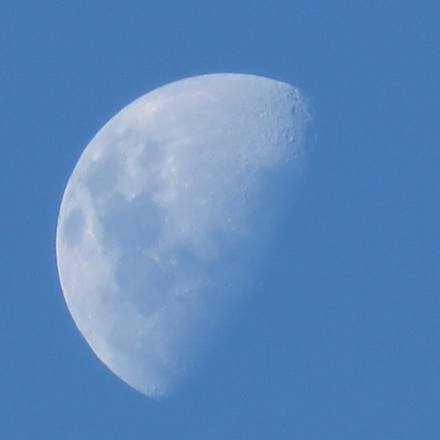 """Moon In Blue Sky"" stock image"