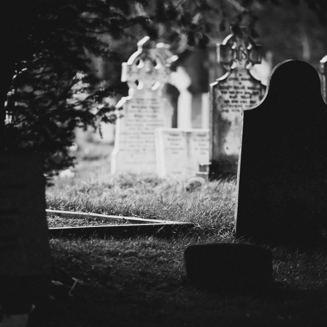 """Old grave"" stock image"