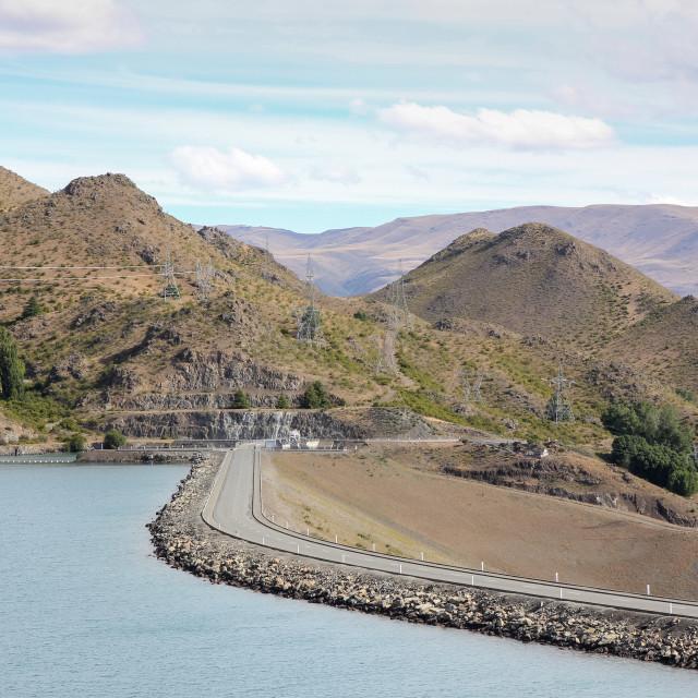 """Benmore dam wall"" stock image"