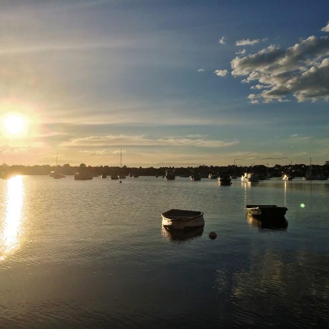 """""""Sunshine On The Bay"""" stock image"""