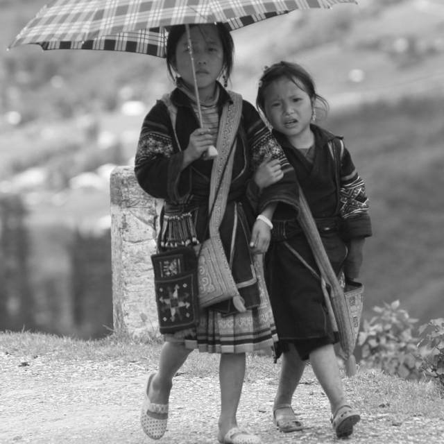 """Sapa children, North Vietnam"" stock image"