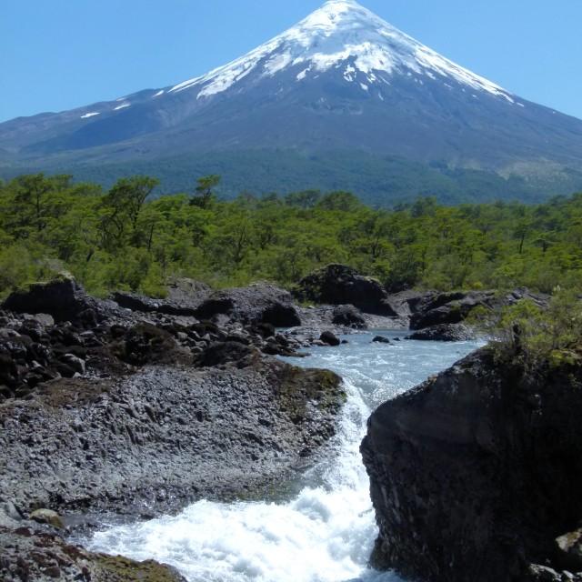 """Volcano, Chile"" stock image"