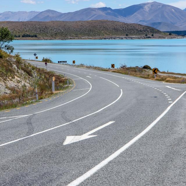 """empty highway"" stock image"