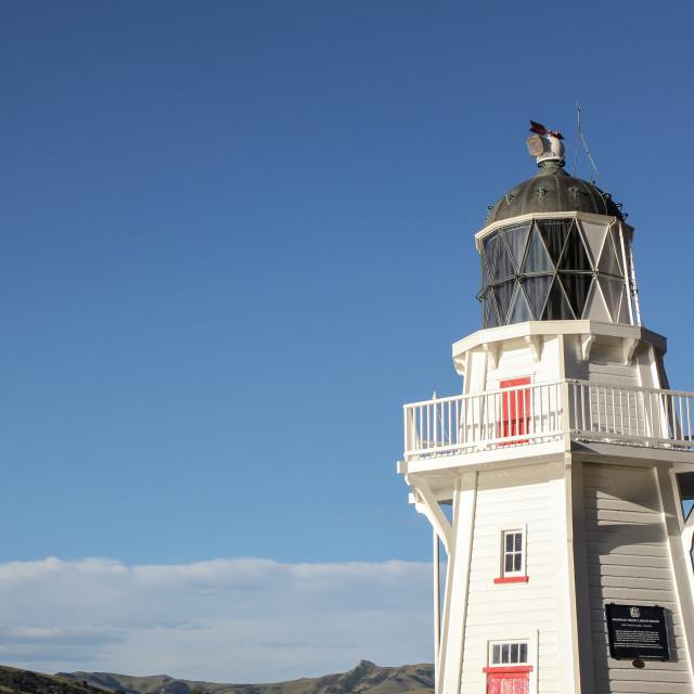 """Akaroa lighthouse"" stock image"