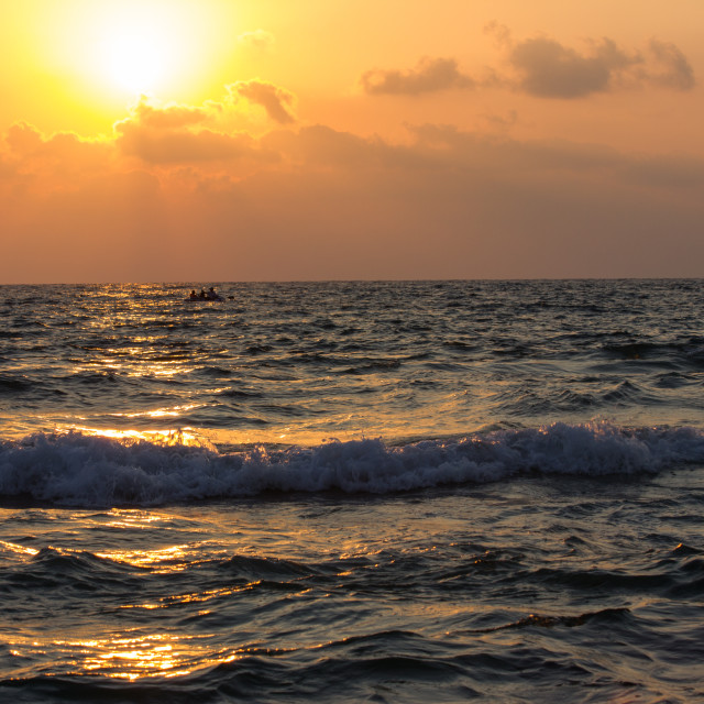 """""""Sunset in the Sea"""" stock image"""