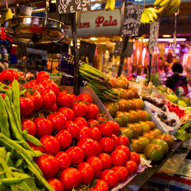 """""""Barcelona Marketplace"""" stock image"""
