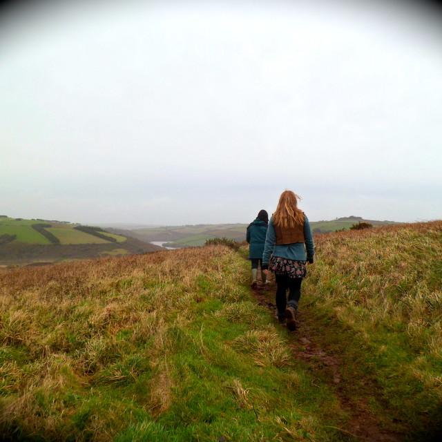 """Walking in Devon"" stock image"