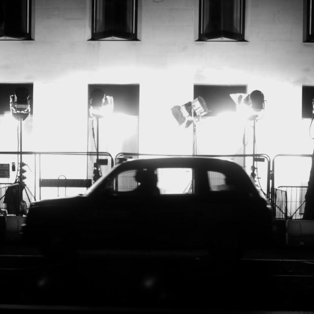 """Black Cab, London"" stock image"