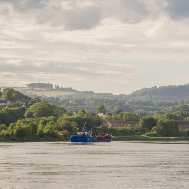 """River Wye, Chepstow"" stock image"