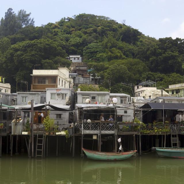 """""""Tai O village, Hong Kong"""" stock image"""