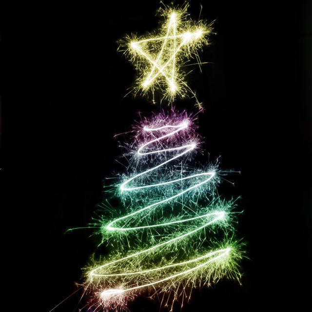 """""""Sparkling Christmas Tree"""" stock image"""