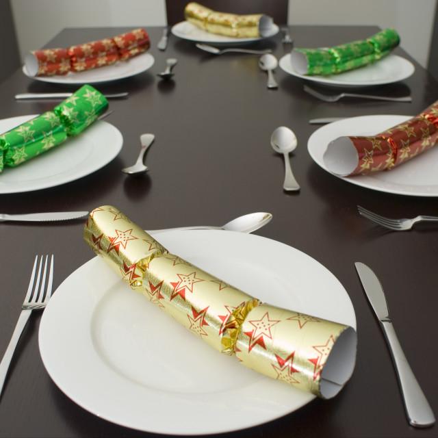 """christmas dining table"" stock image"