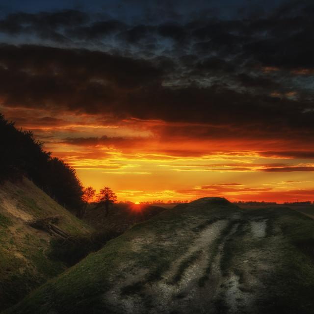 """Burning Sky"" stock image"