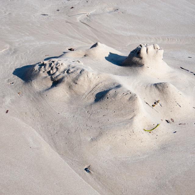 """""""Sandcastle ruin"""" stock image"""