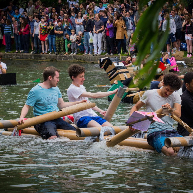 """Cambridge Cardboard Boat Race"" stock image"