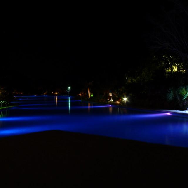 """Blue Pool"" stock image"