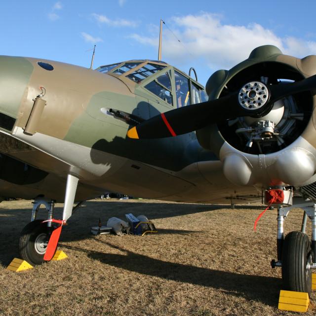 """Avro Anson Mk1"" stock image"