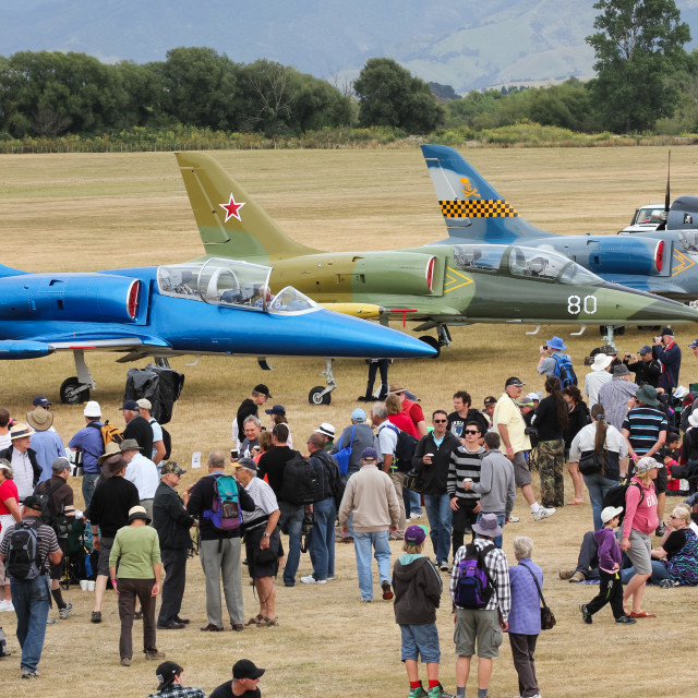 """""""Airshow audience"""" stock image"""