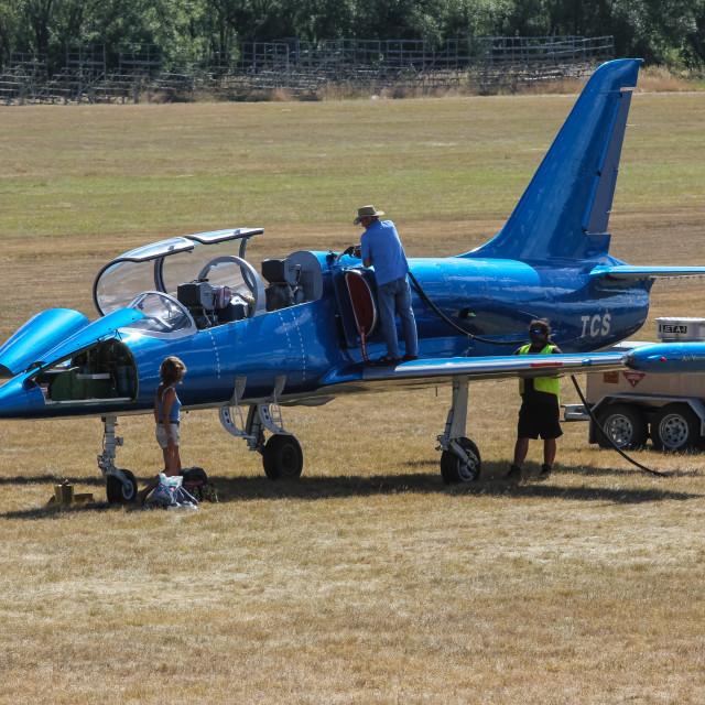 """""""Albatros jet trainer"""" stock image"""