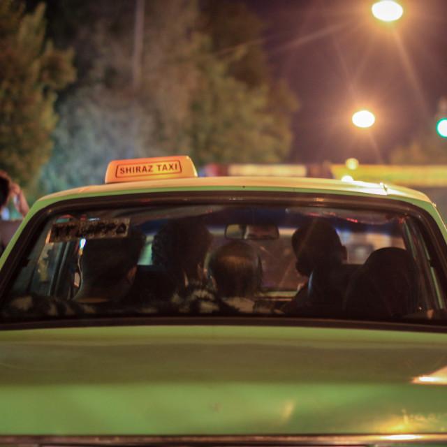 """Iranian taxi - Shiraz"" stock image"
