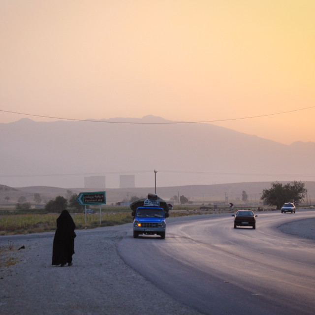 """Sunset road"" stock image"