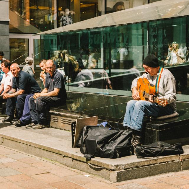 """""""Guitarman, Glasgow"""" stock image"""