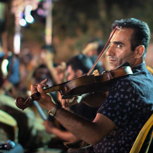 """Iranian violonist"" stock image"