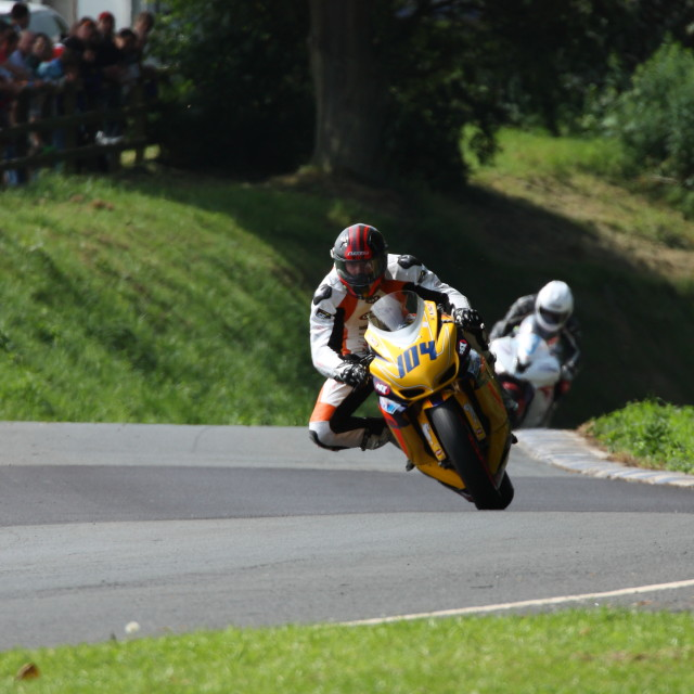 """""""Motorcycle Racing, Oliver's Mount"""" stock image"""