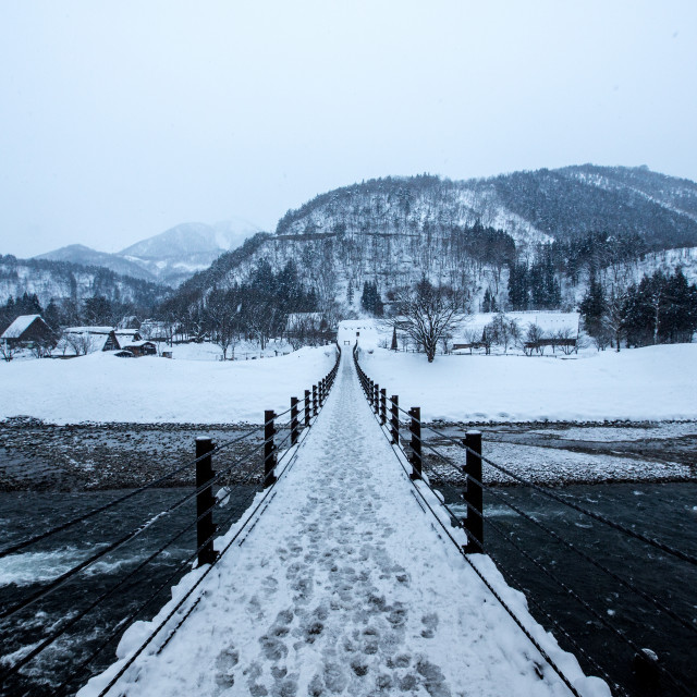 """Snow Bridge"" stock image"