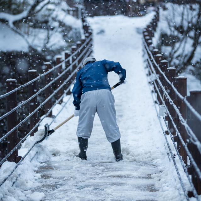 """Snow Worker"" stock image"