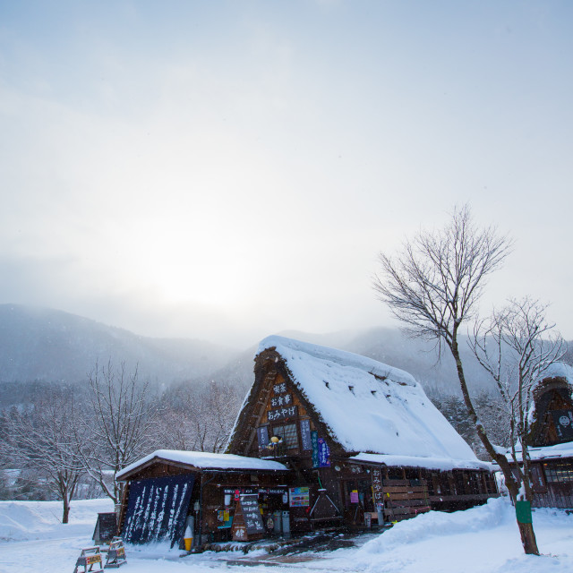 """House in Shirakawa"" stock image"
