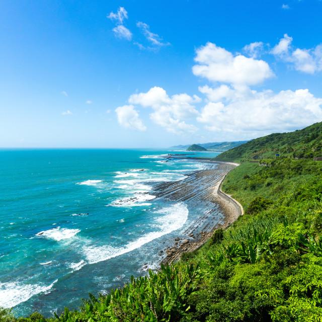 """Coastline of Japan"" stock image"