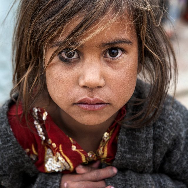 """""""Afghan girl"""" stock image"""