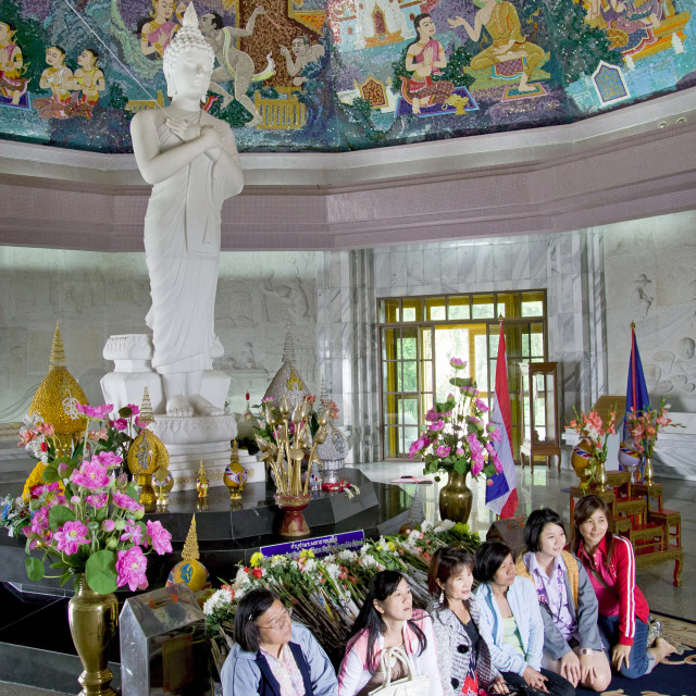 """""""Asian Women in Buddhist Temple"""" stock image"""