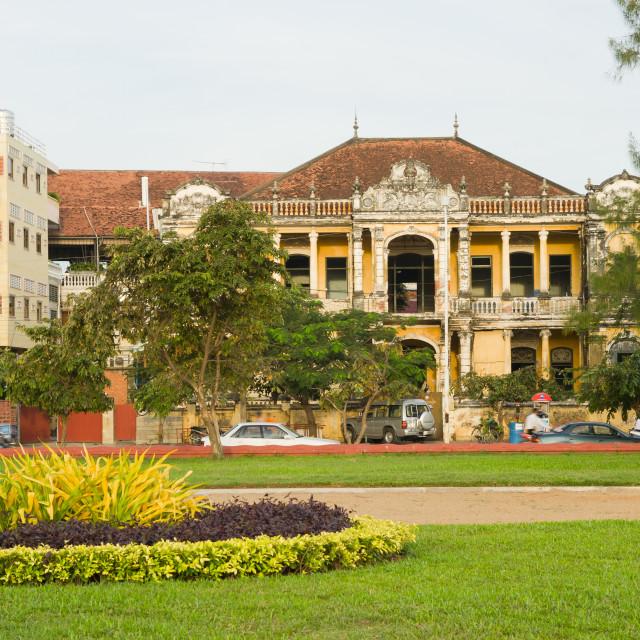 """City of Phnom Penh in Cambodia"" stock image"