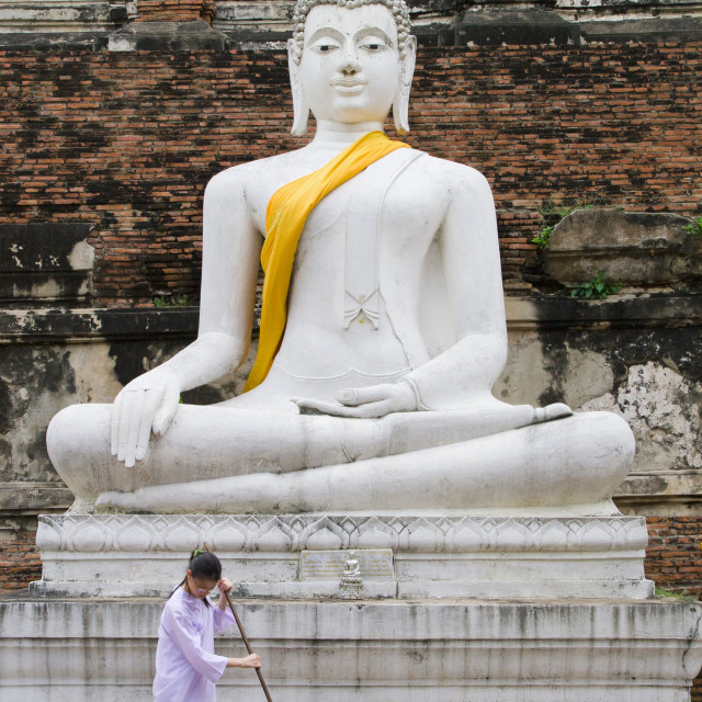 """""""In Front of the Buddha"""" stock image"""