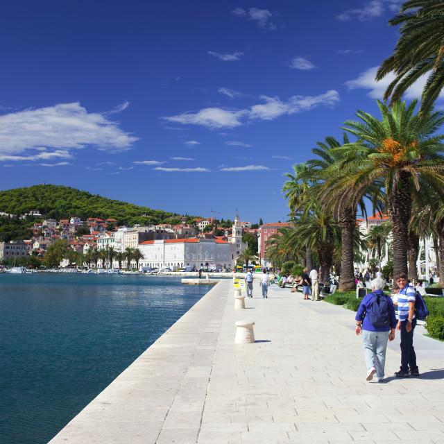 """""""City of Split Promenade"""" stock image"""