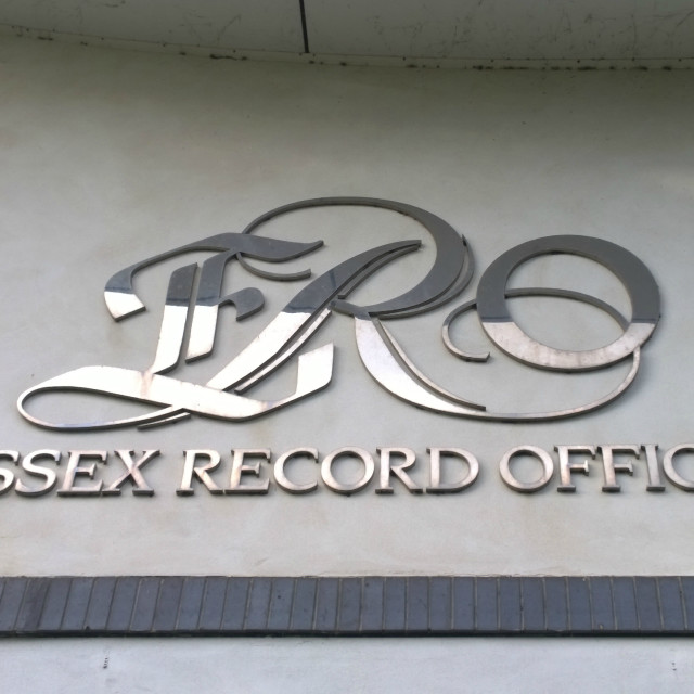 """Essex Record Office sign"" stock image"