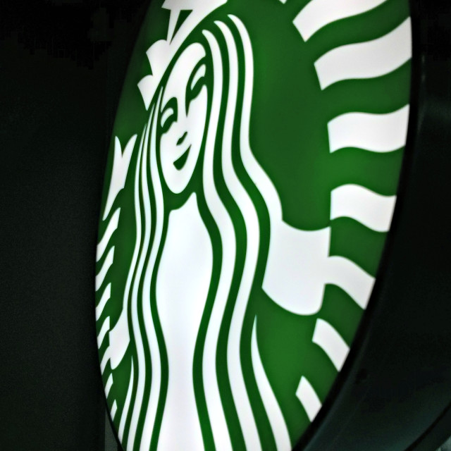 """Starbucks sign"" stock image"