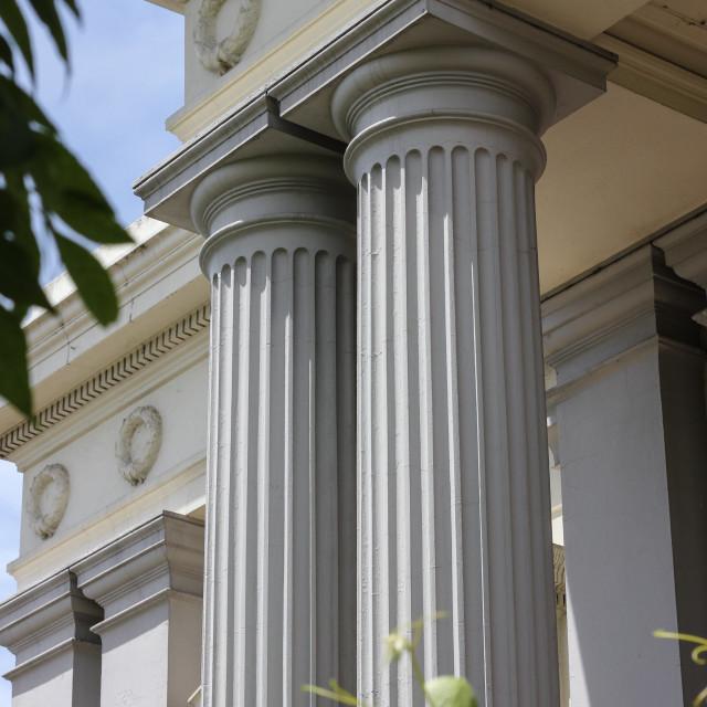 """Doric columns"" stock image"