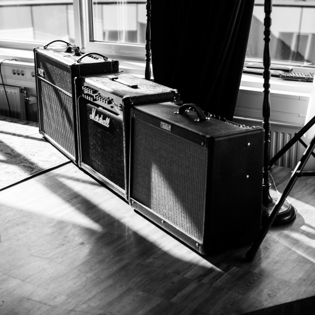 """Guitar Amps"" stock image"