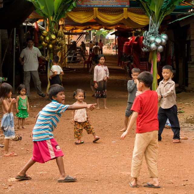 """Khmer Children Playing"" stock image"