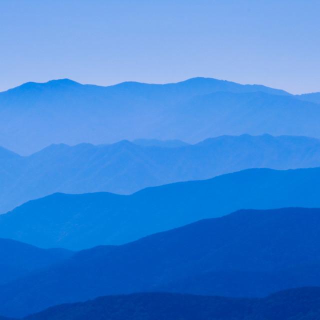 """Blue mountain"" stock image"