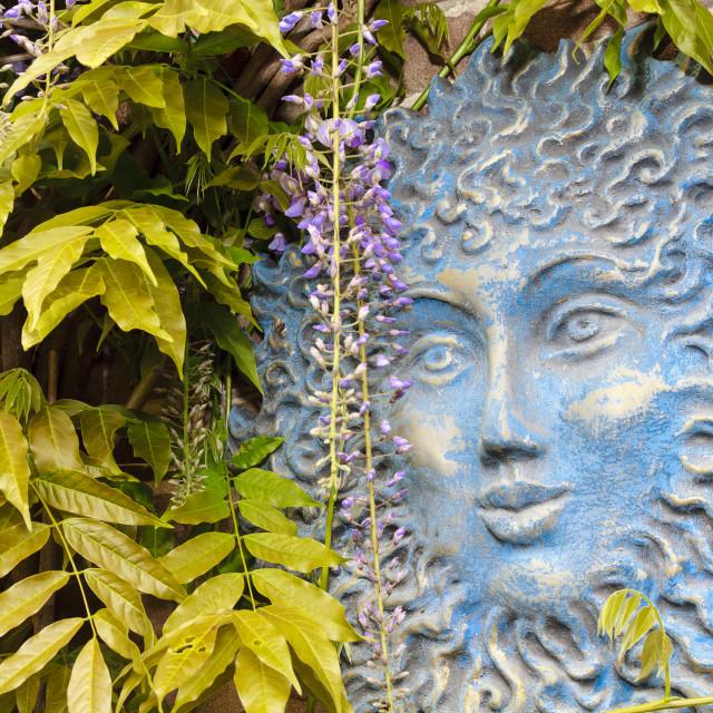 """""""Blue sun face"""" stock image"""