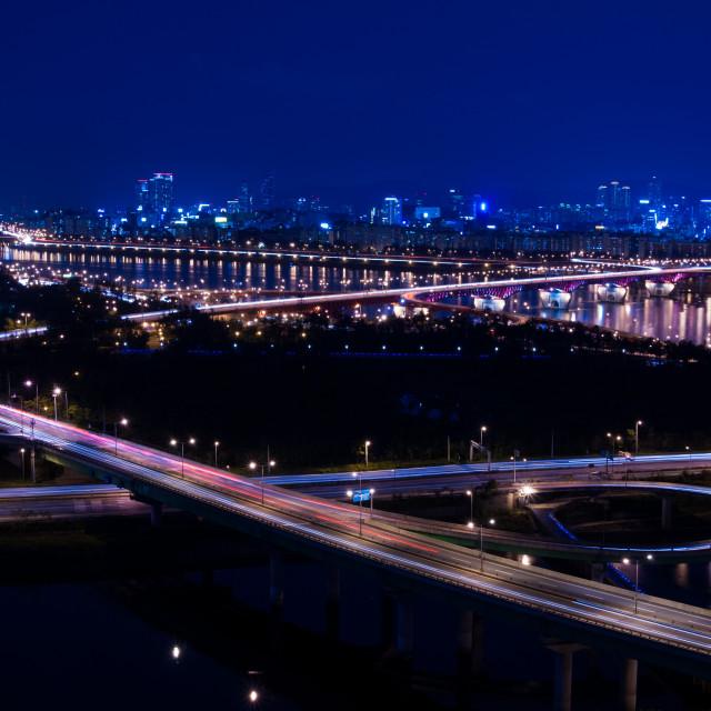 """""""road at night"""" stock image"""