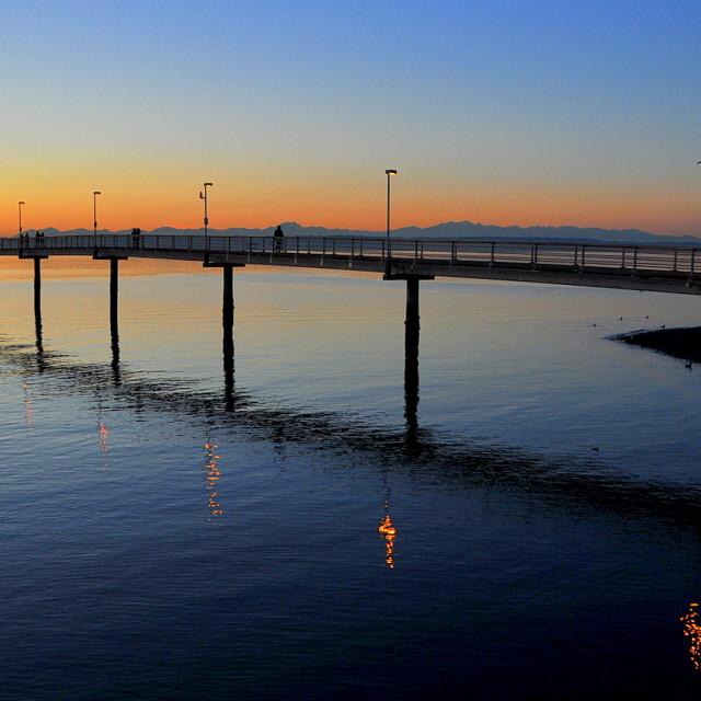 """""""Des Moines Pier #1"""" stock image"""