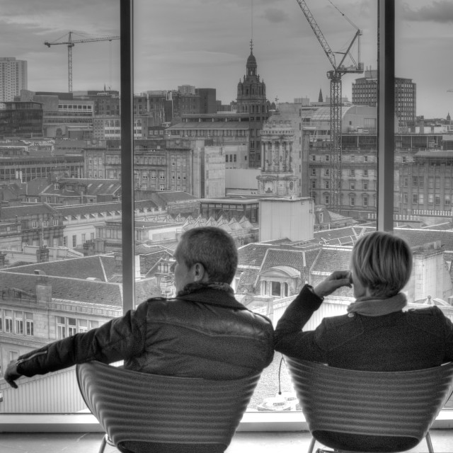 """""""Looking over the city"""" stock image"""